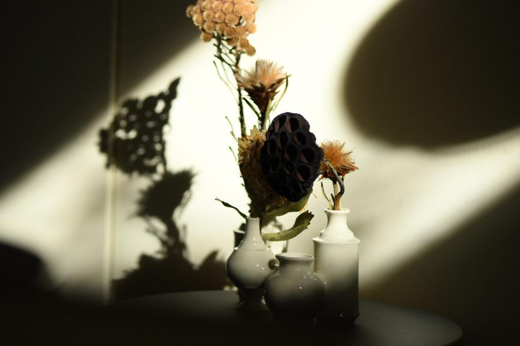 半磁器を使用した花瓶(ナチュラル)