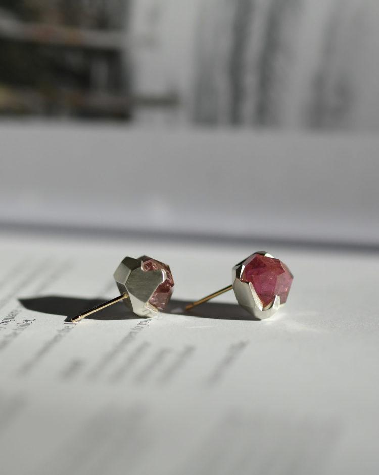 Pink Tourmaline Earrings / ピンクトルマリンのピアス