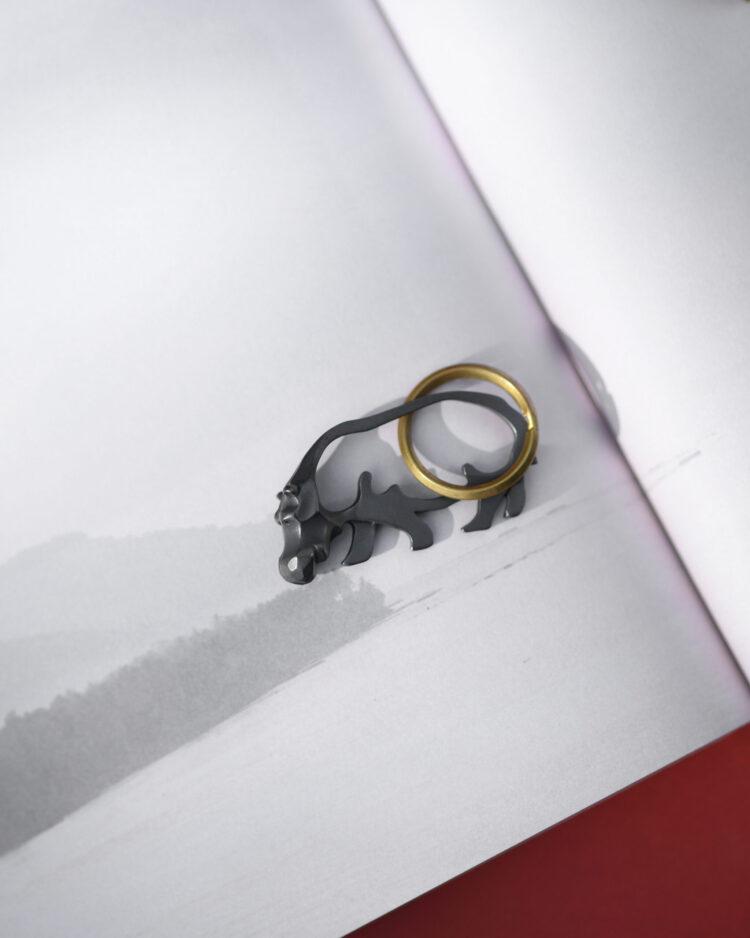 カバのキーリング/hippo keyring