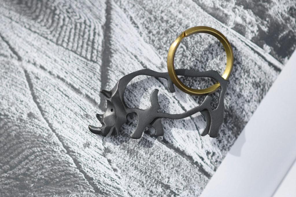 サイのキーホルダー/Rhino Keychain