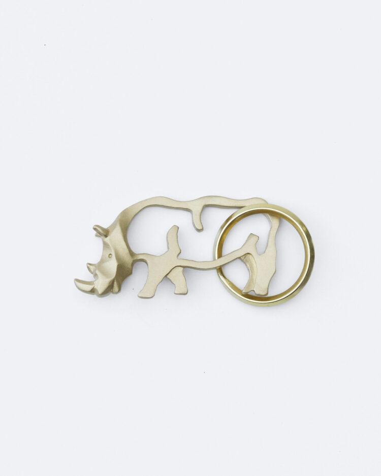 rhino keychain サイのキーホルダー