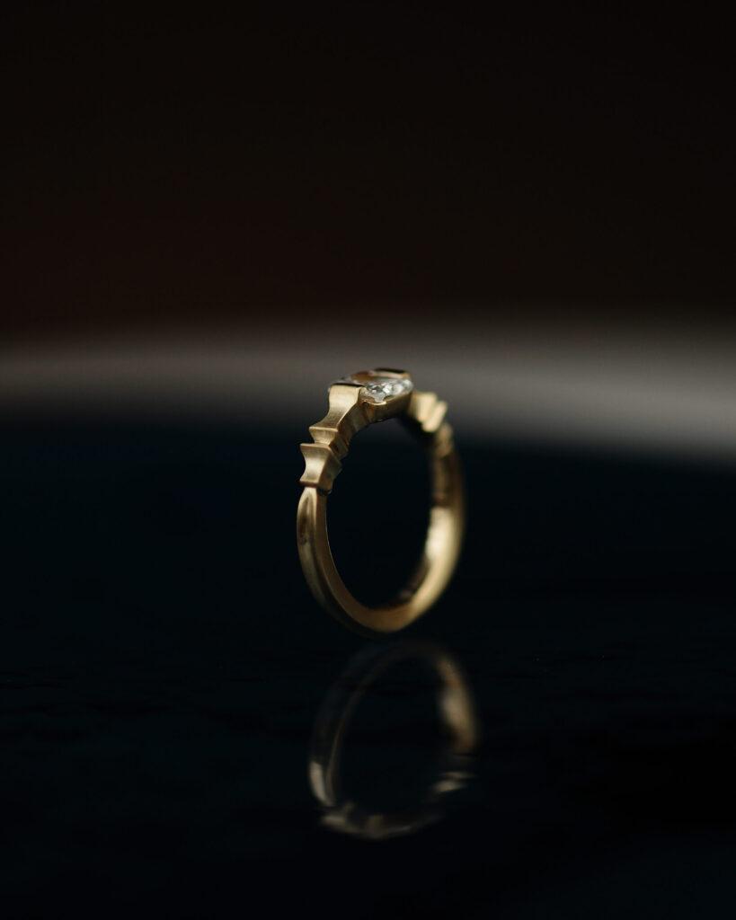 ラディアントカットダイヤモンドリング